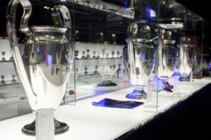 Champions League Trophies in Cabinet