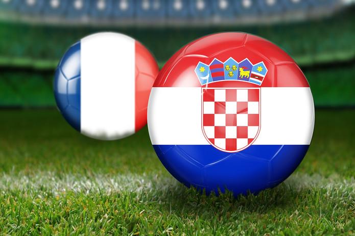 France and Croatia Flag Footballs