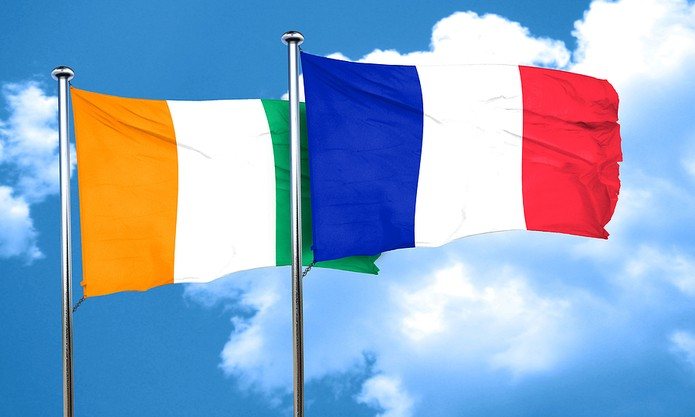 France and Ivory Coast Flags