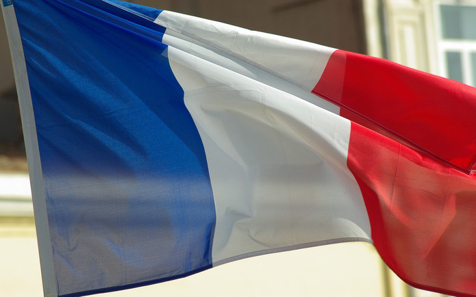 French Flag Against Building