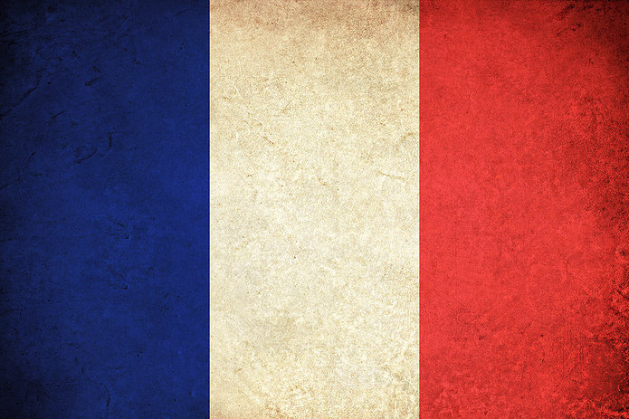 French Flag Faded