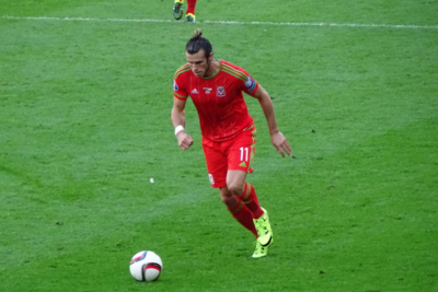 Gareth Bale Playing Football for Wales