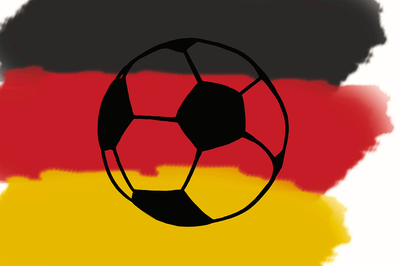 German Flag & Football