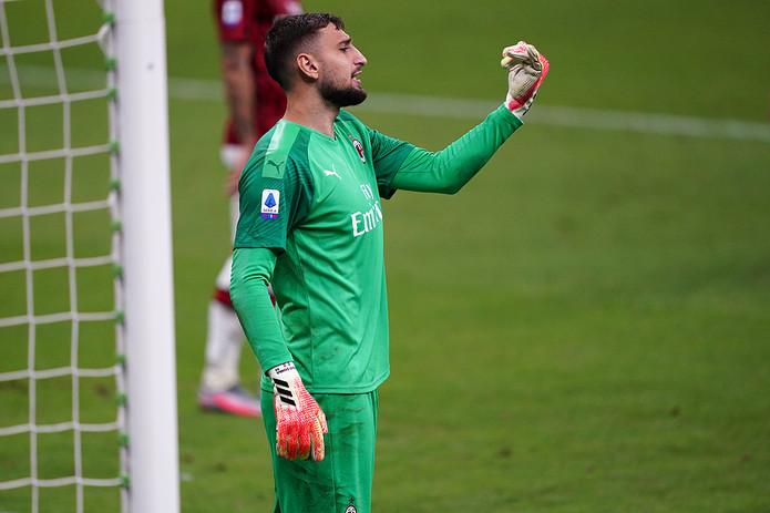 Gianluigi Donnarumma Playing For AC Milan