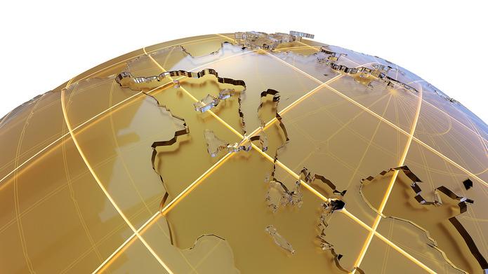 Europe on Gold Globe