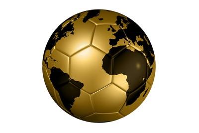Gold World Map Football