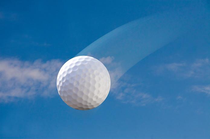 Golf Ball Against Blue Sky