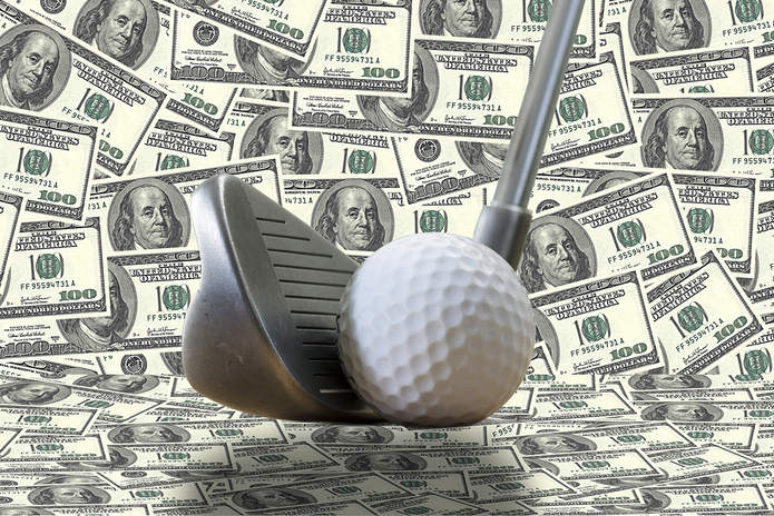 Golf Ball Dollars Backdrop
