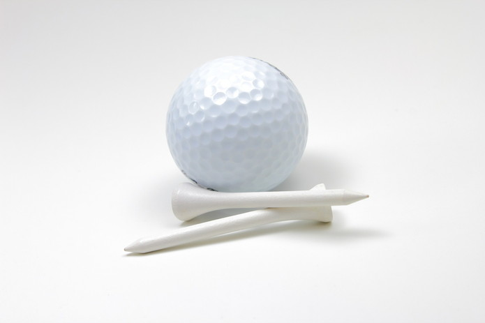 Golf Ball and White Tees