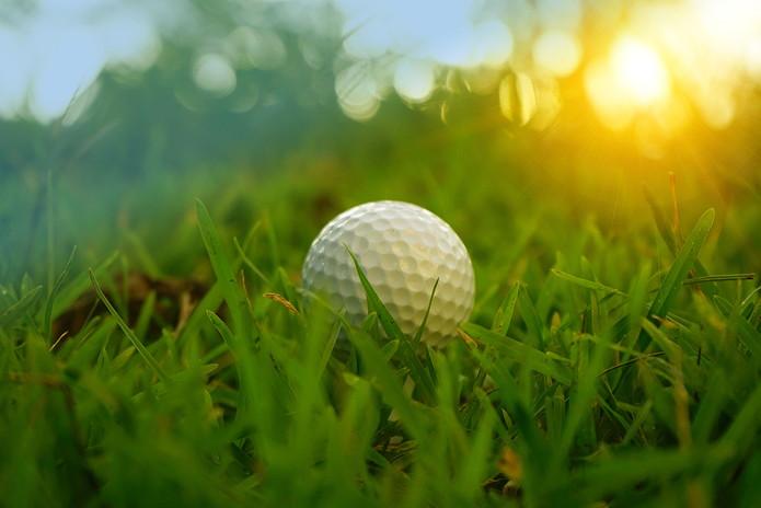 Golf Ball in Rough Grass