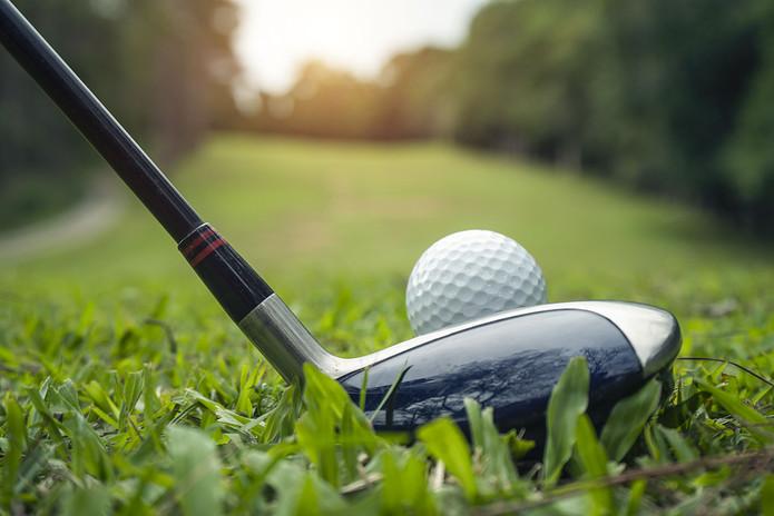 Golf Tee Shot Blurred