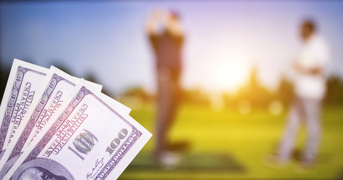 Golfers and 100 Dollar Bills