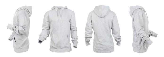 Grey Hoodie Multiple Image