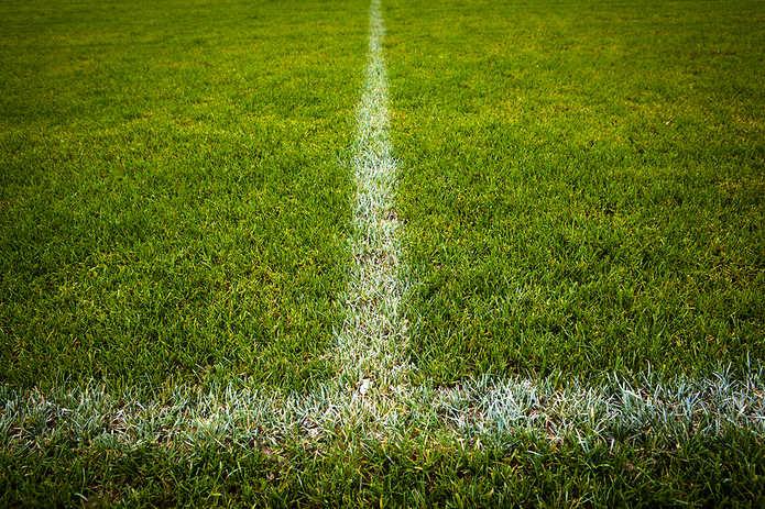 Halfway Line on Football Pitch