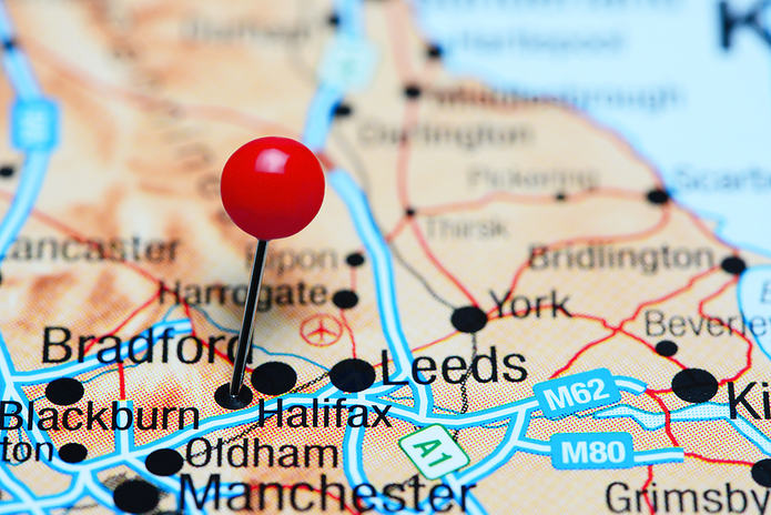 Halifax Pinned on Map