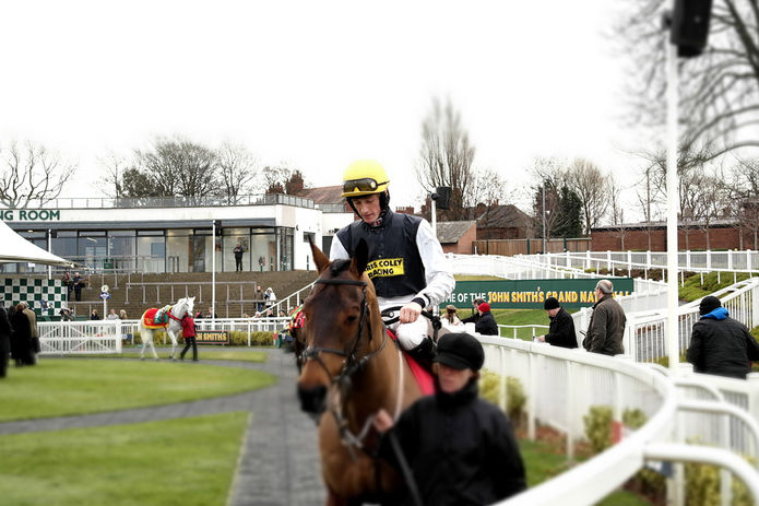 Sam Twiston-Davies on Hello Bud at Aintree
