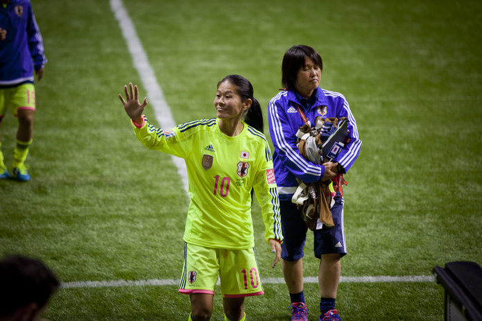 Homare Sawa Playing for Japan at the 2015 Women's World Cup