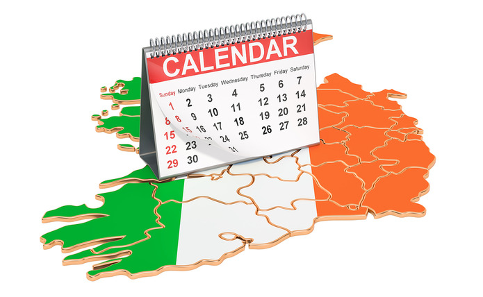 Ireland Map and Calendar