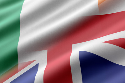 Ireland and UK Merged Flags