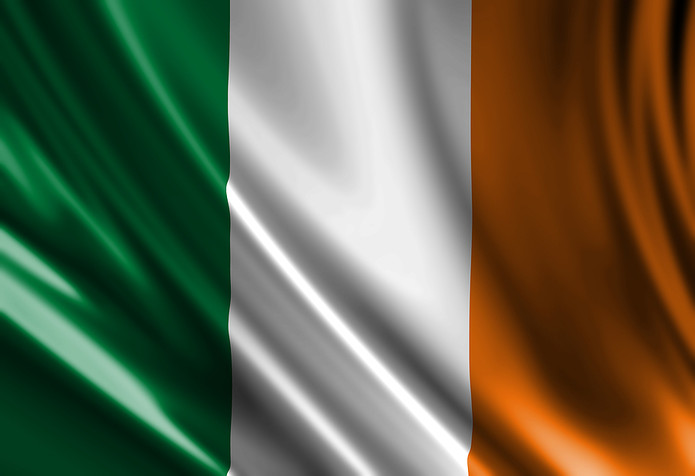 Irish Flag with Uneven Folds