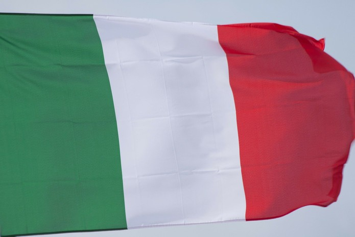 Italy Flag Against Grey Sky