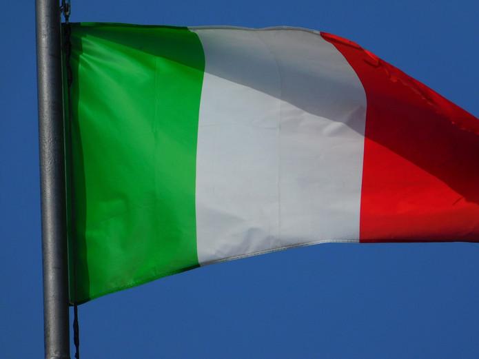 Italy Flag Blue Sky