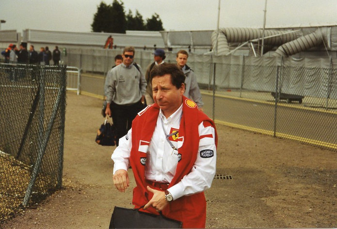Jean Todt at Silverstone with Ferrari by Tony Harrison
