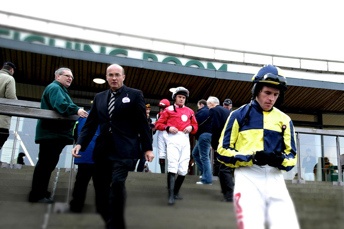 Jockeys Leaving Aintree Weighing Room