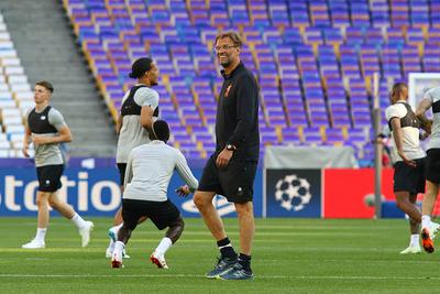 Jurgen Klopp During Liverpool Training