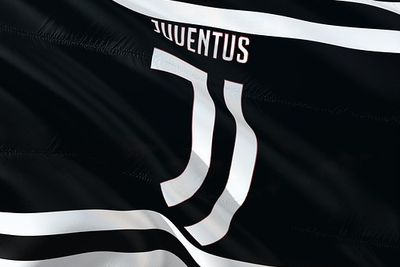 Flag of the Juventus Football Team Logo