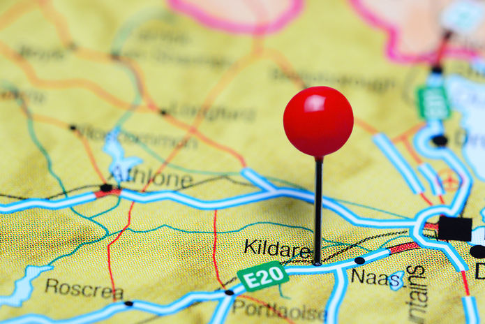 Kildare Pinned on Map of Ireland