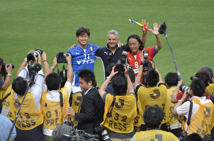 Kazuyoshi Miura at Japan Versus Italy Legends Game