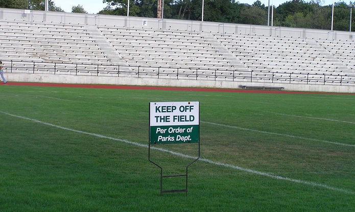Keep Off The Field Sign
