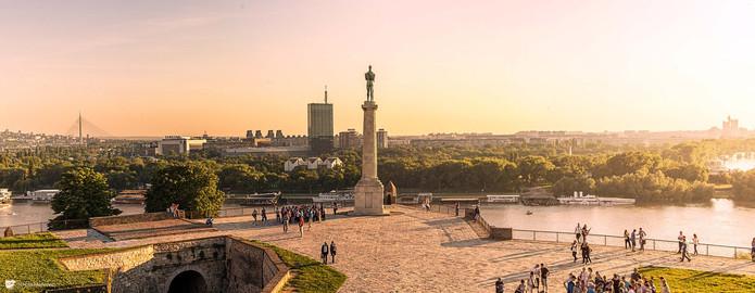 Kelmegdan Park in Belgrade