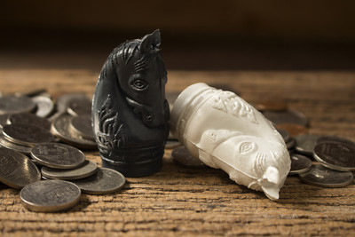 Knight Chess Pieces With Coins