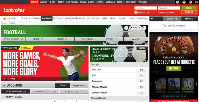 Ladbrokes Screenshot