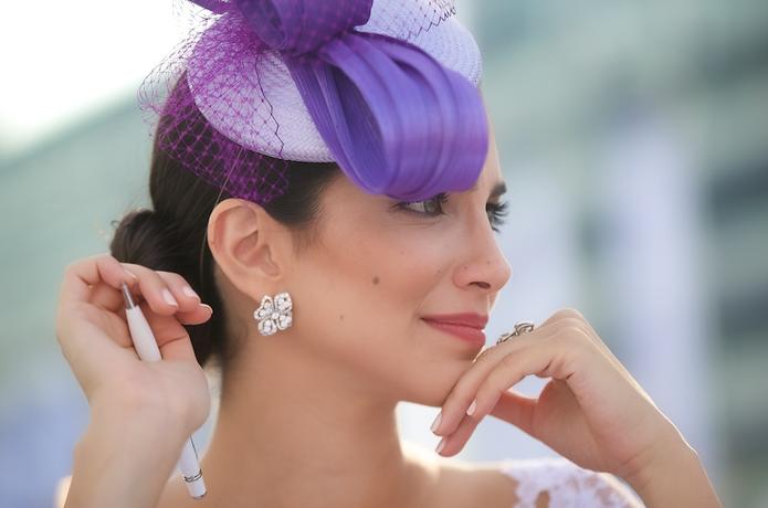 Lady Wearing Fascinator