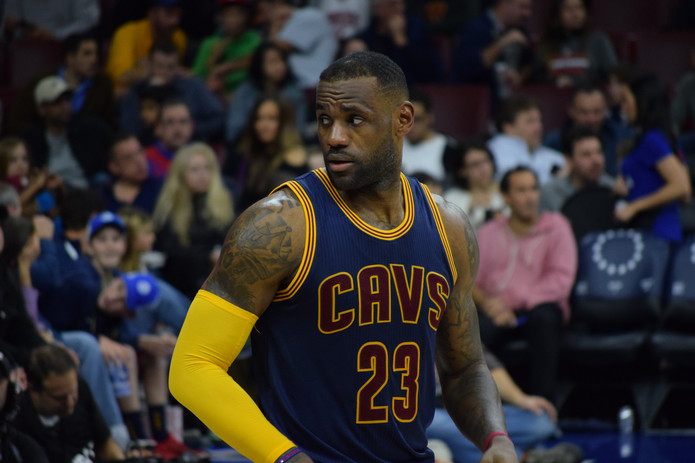 LeBron James Playing for the Cleveland Cavaliers