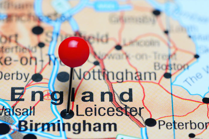 Leicester Pinned on Map