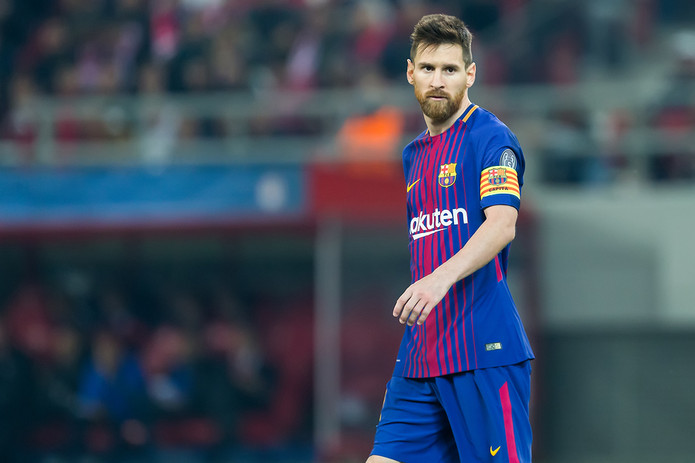 Lionel Messi During Match