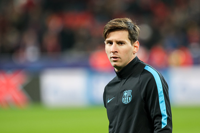 Lionel Messi During Pre Match Training