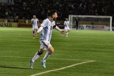 Lionel Messi Celebrating for Argentina
