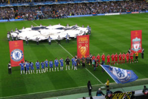 Chelsea and Liverpool Lineup During Champions League Game