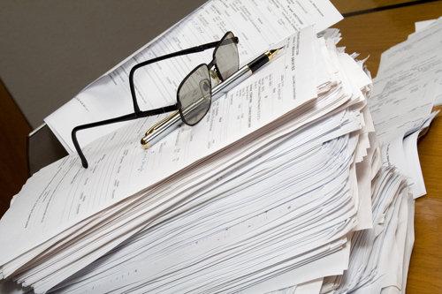 Lots of paperwork