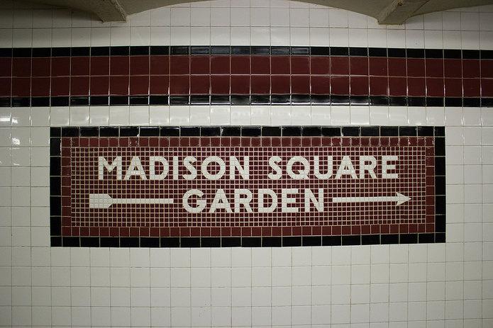 Madison Square Garden Subway Sign