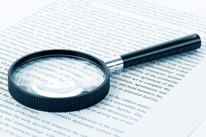Magnifing Glass on Document