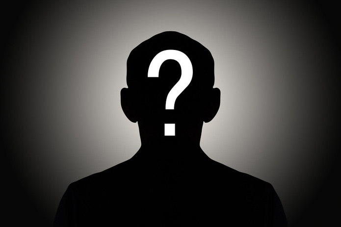 Male Silhouette and Question Mark
