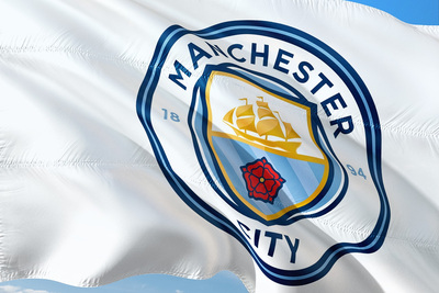 Flag With Manchester City Football Team Logo