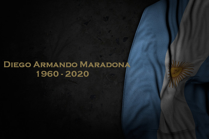 Maradona Argentina Flag