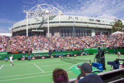 Court at the Australian Open Tennis
